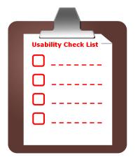 Usaybility Checkliste