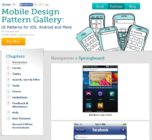 UI-Patterns for mobil design