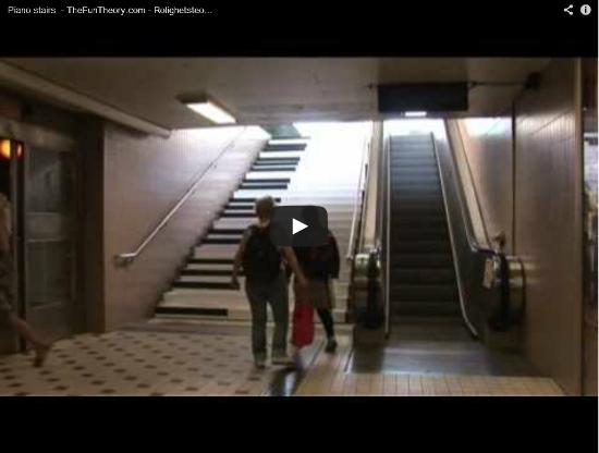 UX Piano Treppe