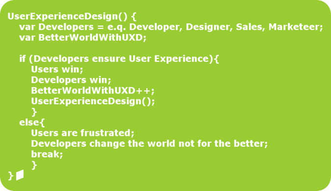 The way of User Experience Design